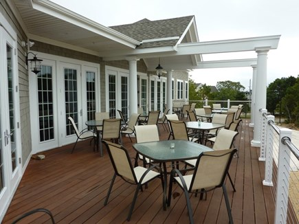 Falmouth, Seacoast Shores Cape Cod vacation rental - Clubhouse Dining Deck with Western water front sunset views