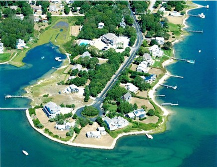 Falmouth, Seacoast Shores Cape Cod vacation rental - House located in top left of this pic - southern tip of peninsula