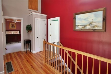 Wellfleet Cape Cod vacation rental - Front Hall and Stairs Down
