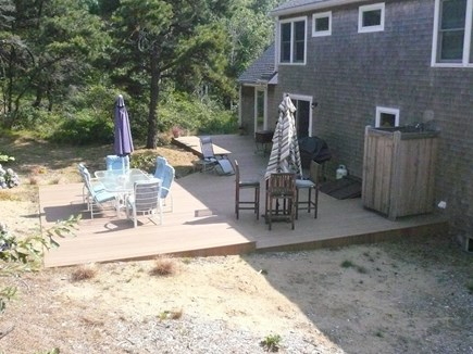 Truro Cape Cod vacation rental - Back Deck with Hot and Cold, Enclosed outdoor Shower