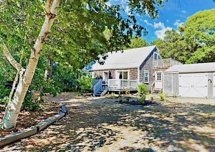 Eastham Cape Cod vacation rental - Private dirt road leads to circular driveway with ample parking.