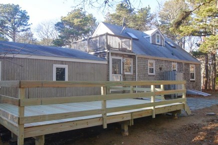 Eastham Cape Cod vacation rental - Dine on the newly built back deck (furniture not shown)