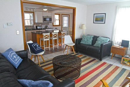 Eastham Cape Cod vacation rental - Sunfilled Living Room has plenty of seating and open floorpan.