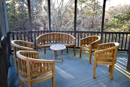 Truro Cape Cod vacation rental - Spacious Screen Porch off Great Room