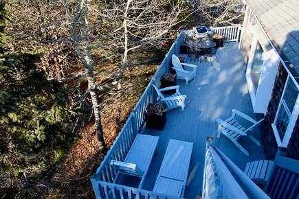 Truro Cape Cod vacation rental - Birds Eye View of Deck
