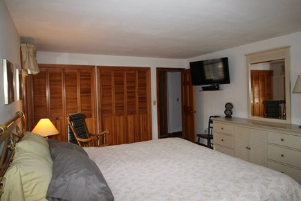 Truro Cape Cod vacation rental - Main Bedroom with Flat Screen TV