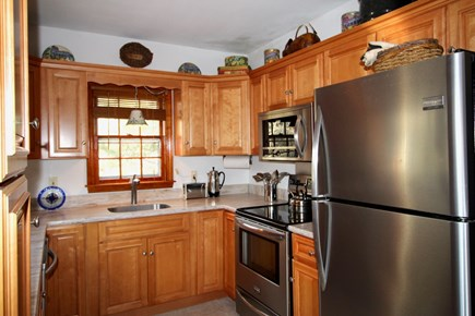 Truro Cape Cod vacation rental - Excellent Kitchen adjacent to Dining and Deck