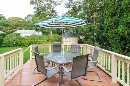 Mashpee, Popponesset Cape Cod vacation rental - Patio set on deck