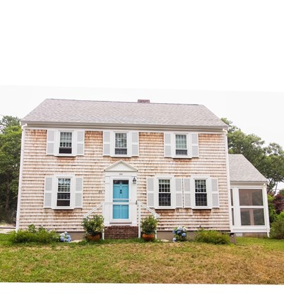 Harwich, Red River Beach Cape Cod vacation rental - Front of House Instagram:  @thebluedoor_harwich