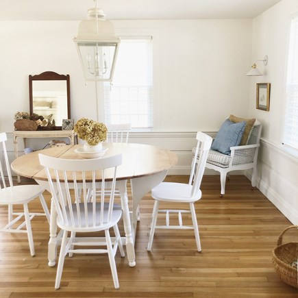 Harwich, Red River Beach Cape Cod vacation rental - Dining Room Instagram: @thebluedoor_harwich