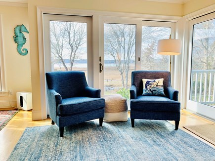 Marion MA vacation rental - Lots of LARGE windows overlooking the Buzzards Bay.