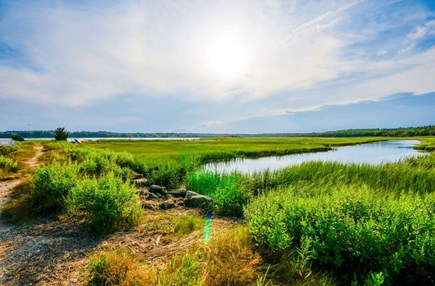 Marion MA vacation rental - View of the Aucoot Cove Marsh with path to beach.