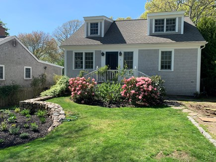 Marion MA vacation rental - Front of home with professionally designed landscape