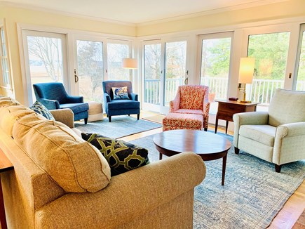Marion MA vacation rental - Comfortable seating in our open living room.