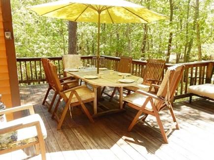 Eastham Cape Cod vacation rental - Shady back deck.
