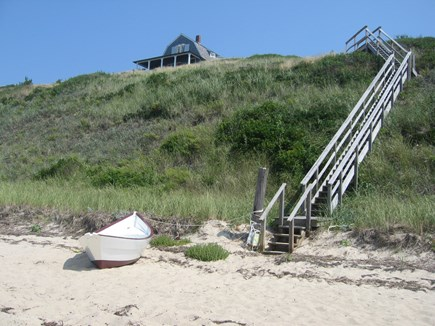 North Truro Cape Cod vacation rental - View from the beach.
