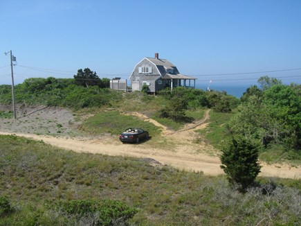 North Truro Cape Cod vacation rental - View from parking.