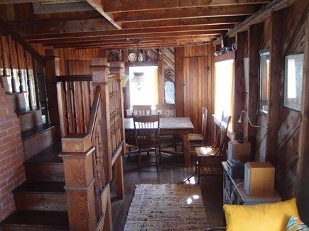 North Truro Cape Cod vacation rental - Open plan dining room.