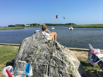 Barnstable, West Hyannisport, Seaside Park Cape Cod vacation rental - The Creek or Little Beach is a gathering place for children.