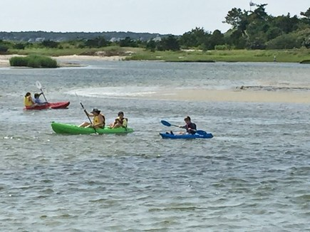 Barnstable, West Hyannisport, Seaside Park Cape Cod vacation rental - Kayaking in the creek