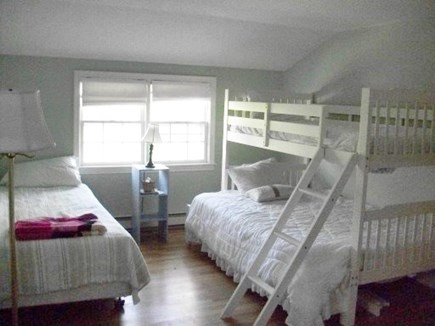 Dennis Cape Cod vacation rental - Second floor with twin over full bunk, 1 full and another twin