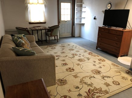 Dennis, Forest Pines Estates Close to  Cape Cod vacation rental - Lower Level Playroom with sofa bed, Smart TV/Cable/Internet