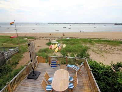 Provincetown Cape Cod vacation rental - View from the bedroom, overlooking the deck.