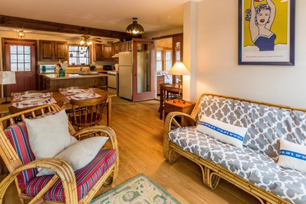 Wellfleet Cape Cod vacation rental - Living Area that opens to the deck