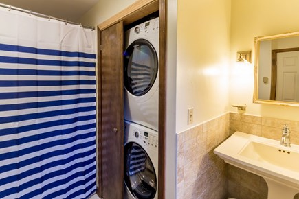Wellfleet Cape Cod vacation rental - Updated bath with shower, tub, W/D