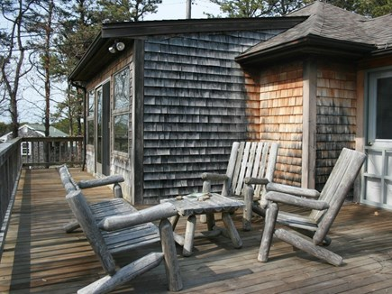Wellfleet Cape Cod vacation rental - Open deck seating