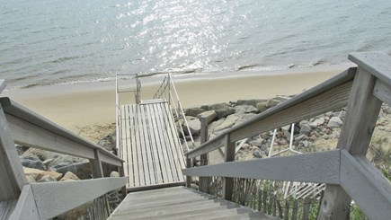 Eastham Cape Cod vacation rental - Stairs to the beach on the Bay