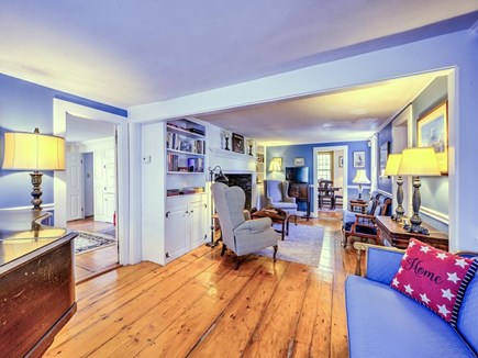 Barnstable Village Cape Cod vacation rental - Family Parlor Room with Flat Screen TV