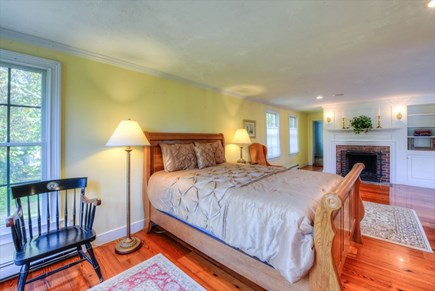 Barnstable Village Cape Cod vacation rental - Oversized Master Bedroom suite with fireplace and new bath
