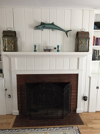 South Chatham Cape Cod vacation rental - Fireplace