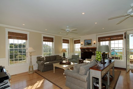 Chatham Cape Cod vacation rental - Spacious light filled living room with stunning water views