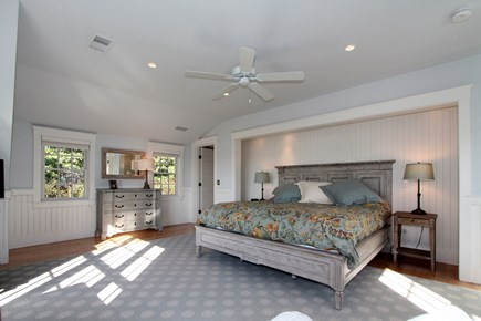 Chatham Cape Cod vacation rental - Master BR:  King bed, water view, ensuite bath, windows - 3 sides