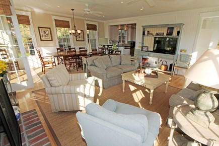 Chatham Cape Cod vacation rental - Open living room, dining room & kitchen create large living space