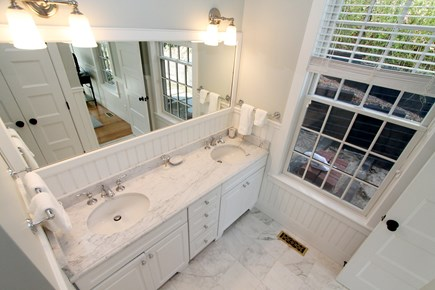 Chatham Cape Cod vacation rental - Ensuite Guest Bath:  shower, toilet room & marble counters