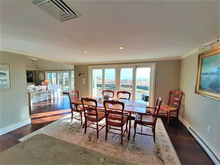 Hyannis Cape Cod vacation rental - Lovely Dining Room with glass sliders to stone patio