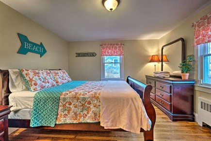 South Yarmouth Cape Cod vacation rental - Master bedroom with queen size bed and plenty of drawer space
