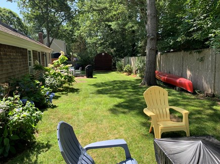 South Yarmouth Cape Cod vacation rental - Relaxing back yard