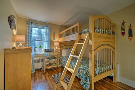 South Yarmouth Cape Cod vacation rental - Cute kids bedroom with twin bunks