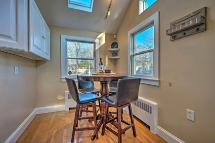 South Yarmouth Cape Cod vacation rental - Sunny kitchen nook with high top table