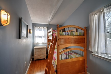 Sandwich Cape Cod vacation rental - Bedroom with Twin Bunk Bed and extra Twin mattress on the floor.