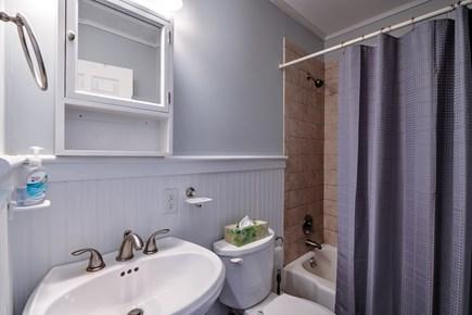 Sandwich Cape Cod vacation rental - Hall Bath with tub/shower.
