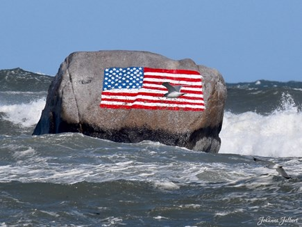 Plymouth, Manomet MA vacation rental - White Horse Beach, Flag rock