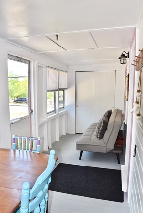 Plymouth, Manomet MA vacation rental - Sleeper couch on enclosed porch with A/C
