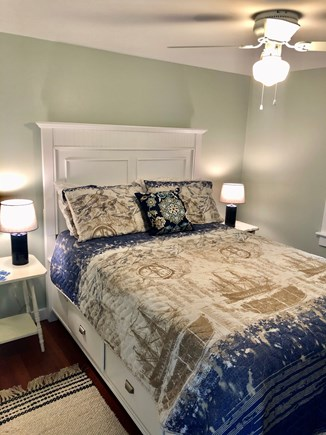 Plymouth, Manomet MA vacation rental - Full sized bed with ample storage