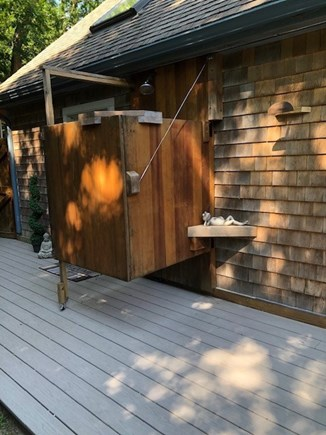 Eastham Cape Cod vacation rental - Mark's custom designed o/s shower.  Open or closed, you decide.
