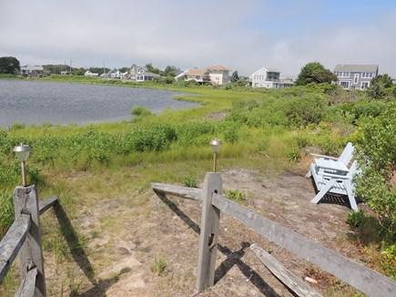 West Dennis Cape Cod vacation rental - Walkway to the Salt Pond
